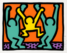 Keith HARING (1958-1990) - Pl.4 from 'Pop Shop I'