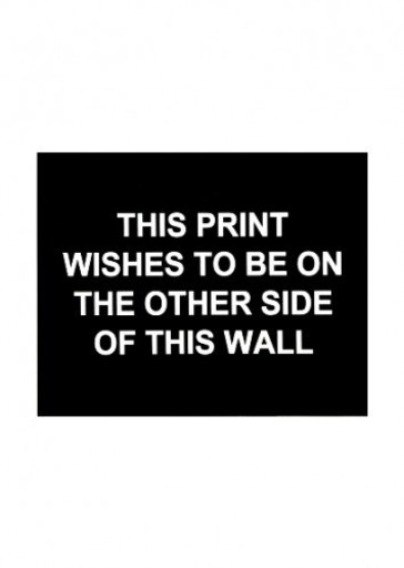 Laure PROUVOST - Estampe-Multiple - This print wished to be on the other side of this wall
