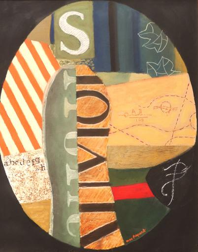 Max PAPART - Peinture - Mrs.S joue du piano, 1971