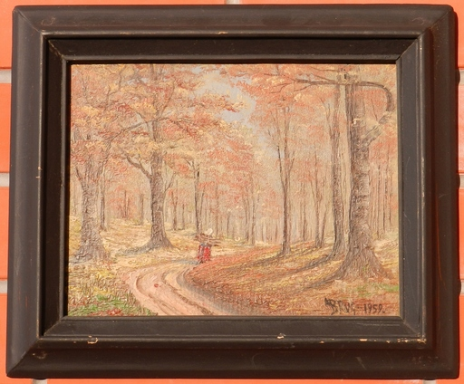 Germaine BRUS - Painting - Path in forest