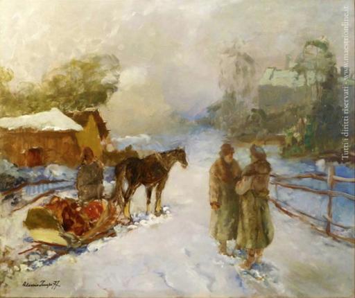 Alessio ISSUPOFF - Gemälde - Fattoria nel bosco (1937)