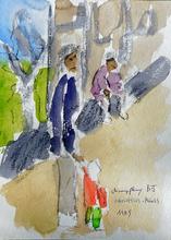 Jean-Pierre CHEVASSUS-AGNES - Drawing-Watercolor - vue de ma fenêtre HLM CHAMPFLEURY BOURGOIN  JALLIEU (38)