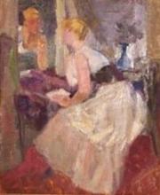 Louis BERTHOMMÉ-SAINT-ANDRÉ - Pintura - Le Miroir