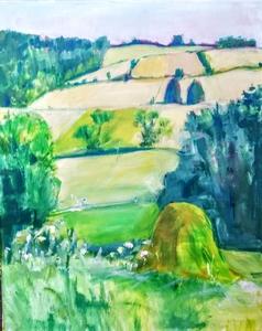 Ewa WITKOWSKA - Painting - Haystack