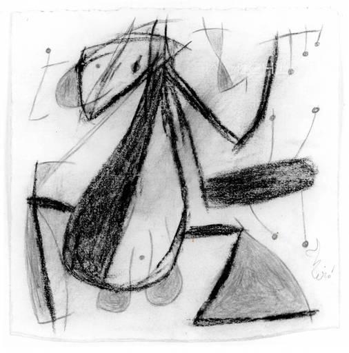 Joan MIRO - Drawing-Watercolor - Femme Oiseau