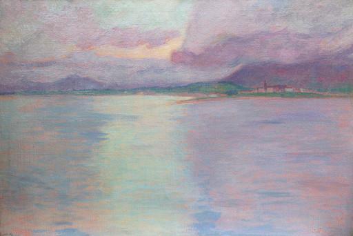 Michel SIMONIDY - Pintura - paysage symboliste