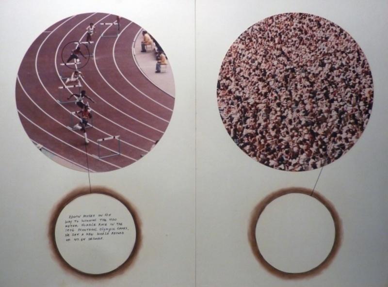 Roger WELCH - Disegno Acquarello - Edwin Moses - Olympics 1976