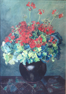 Zacharie ASTRUC - 水彩作品 - Bouquet de fleurs