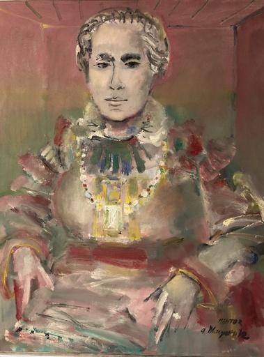 Blasco MENTOR - Painting - Portrait de femme