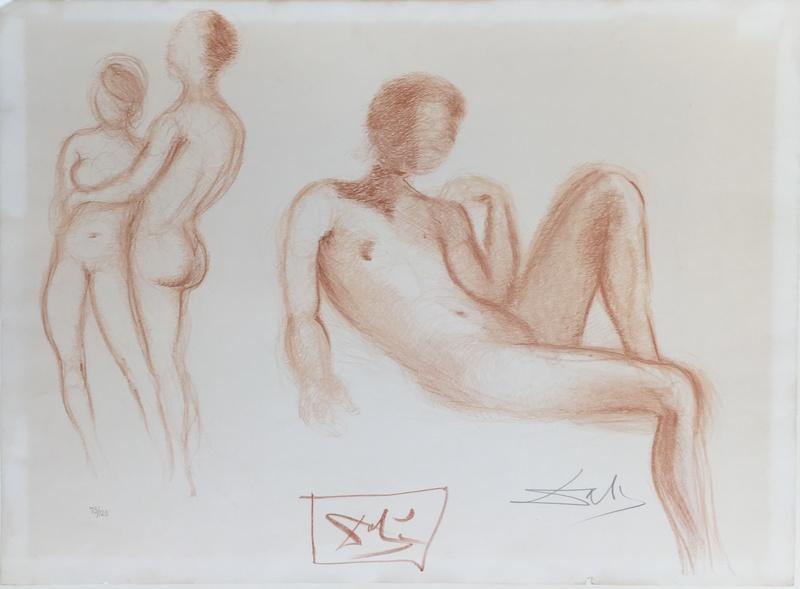 Salvador DALI - Print-Multiple - Nus