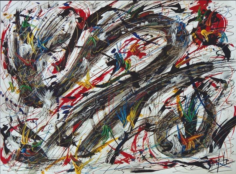 Didier ANGELS - Peinture - le manège