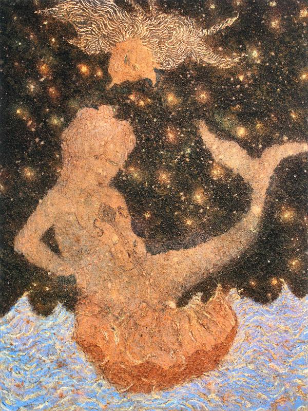 Frédéric COURAILLON - Painting - La Fille des mers