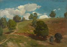 Johann Wilhelm SCHIRMER - Pintura - Landschaft bei Kleinsassen in der Rhön.