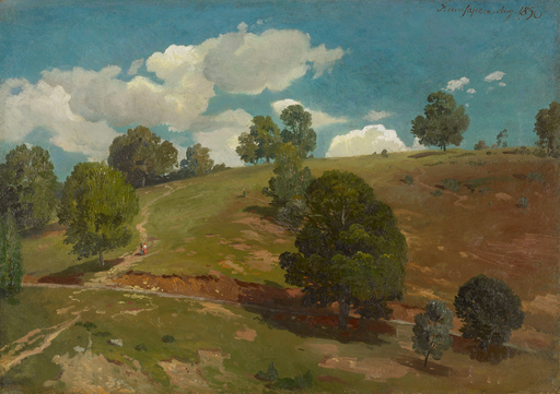 Johann Wilhelm SCHIRMER - Painting - Landschaft bei Kleinsassen in der Rhön.