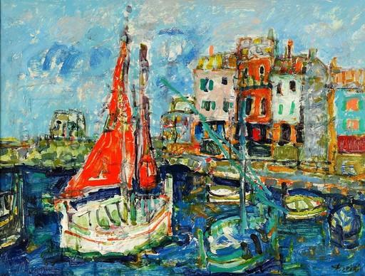 Paul AIZPIRI - Painting - The Habour, St. Tropez