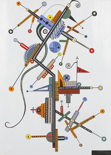 Georges TERZIAN - Peinture - Le serpentin