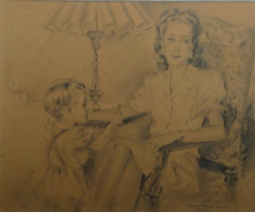 Louis KAHAN - Drawing-Watercolor - le bon point oran 1944