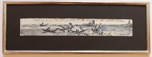 Françoise GILOT - Painting - Venetian Boat Scene