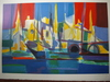 Marcel MOULY (1918-2008) - PORT NORVEGIEN. HANDSIGNED BY ARTIST