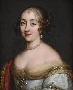 Louis Ferdinand I ELLE - Painting - Portrait d'une dame de la cour de Louis XIV