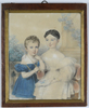 """Johann Nepomuk ENDER - Zeichnung Aquarell - """"Little brother and sister"""", watercolor, 1831"""