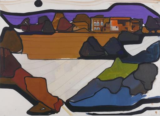 Horst DE MARÉES - Painting - Häuser am Stadtrand
