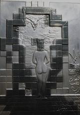 Salvador DALI - Sculpture-Volume - Lincoln in Dalivision Platinum Bas Relief