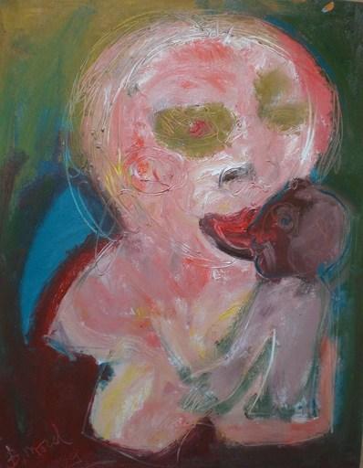 Bernard MOREL - Peinture - PEINTRE ET MODELE