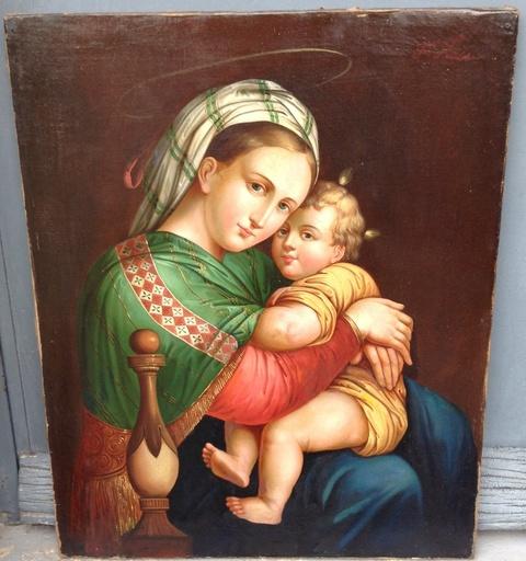 Ferdinand KÜSS - Painting - Madonna de la Silla