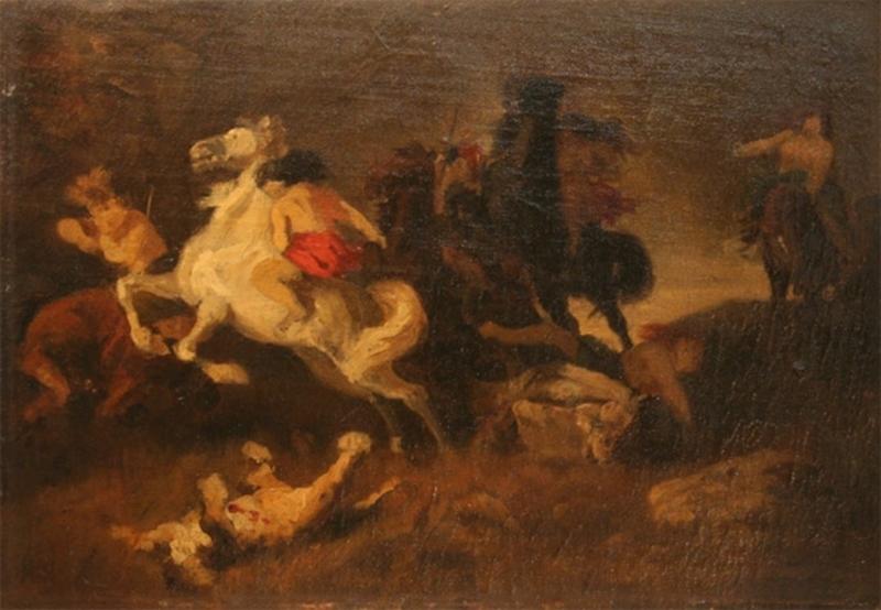 Franz MÜLLER-MÜNSTER - Gemälde - Amazonenschlacht