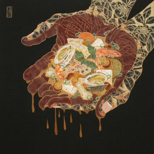 Hiroomi ITO - Pittura - Sopa de miso en las manos
