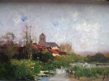 Eugène GALIEN-LALOUE - Painting - MORET SUR LOING