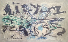André MARCHAND - Pintura - RESPIRATION MARINE, MATIN SUR L'OCÉAN BELLE ISLE EN MER