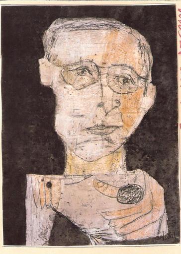 Antonio Luigi DEL SAL - Painting - AUTORITRATTO