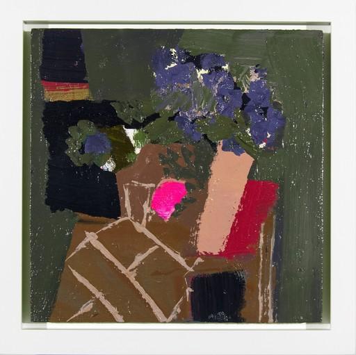 Jennifer HORNYAK - Peinture - Hyacinth Blue with Black