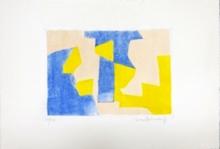 塞尔日•波利雅科夫 - 版画 - Composition Bleue rose et jaune