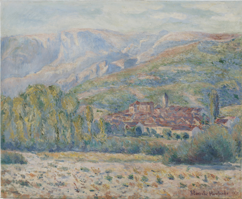 Blanche HOSCHÉDÉ-MONET - Peinture - Village de Poujal-sur-Orb, Hérault