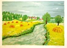 Maurice LOIRAND - Grabado - Paysage