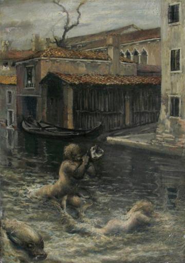 Bortolo SACCHI - Pintura - Fantasia veneziana