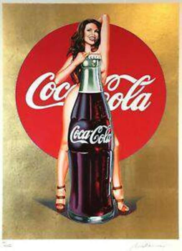 Mel RAMOS - Druckgrafik-Multiple - Lola Cola #5 gold