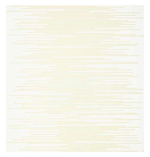 Sol LEWITT - Drawing-Watercolor - Stranght parallel lines of random length not touching sides