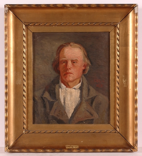 "Sigfrid August KEINÄNEN - Peinture - ""Self-Portrait (?)"", 1874, Oil on Canvas"