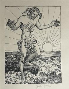 Hans THOMA - Print-Multiple - Wassermann I (Meermann)
