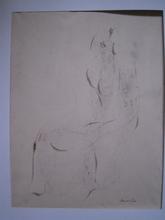 Jean FAUTRIER - Dibujo Acuarela - FEMME NUE  CIRCA 1940