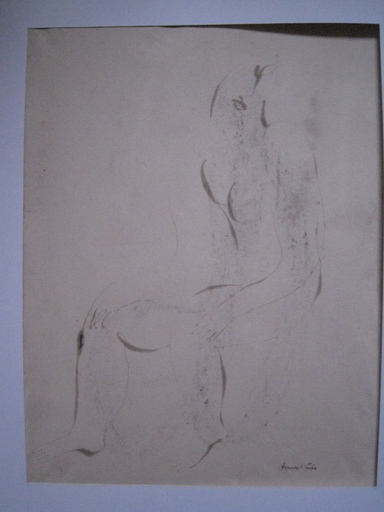 Jean FAUTRIER - Drawing-Watercolor - FEMME NUE  CIRCA 1940