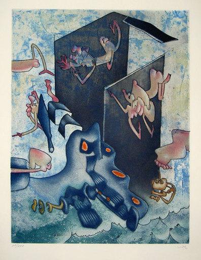 罗贝托•马塔 - 版画 - La Danse de la Mort (8 Aquatint Etchings)