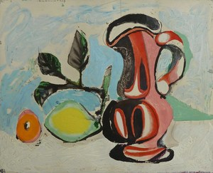 Pablo PICASSO, Still Life with Pitcher and Lemon
