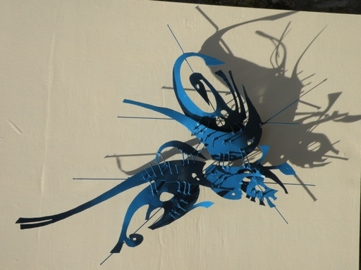 Laurent LARDIN - Sculpture-Volume - Vision Marine Bleu