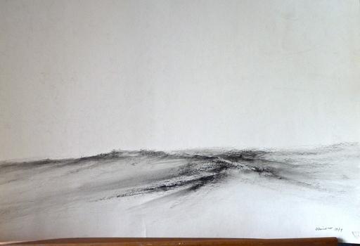 Jack OTTAVIANO - Drawing-Watercolor - La Limagne vue de Beauregard-l'Evêque