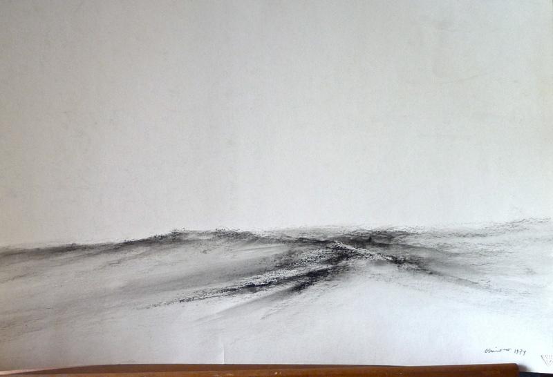 Jack OTTAVIANO - Dibujo Acuarela - La Limagne vue de Beauregard-l'Evêque